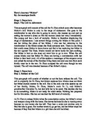 hero s journey mulan a level english marked by teachers com page 1