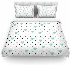 project m pin point polka dot mint green white duvet cover cotton