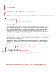 Business Letter Format Spacing Template Resume Builder