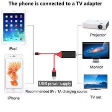 lightning to hdmi cable hdtv tv digital av adapter for apple 5 6 7