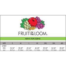 Fruit Of The Loom Sweatshirt Sizes Arts Arts