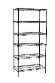14 deep x 48 wide x 86 high 6 tier black starter shelving unit by omega s corporation