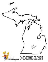 22 Michigan State Map At Coloring Pages Book For Kids Boys 10 Usa