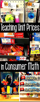Teaching Unit Pricing In Consumer Math Class Consumer Math