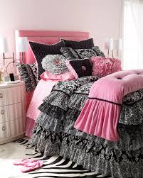 luxury pink and black comforter set
