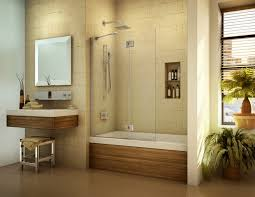 Glass Bathroom Cabinets Brown White Bath Up With Sliding Glass Door Also Shelf Placed On