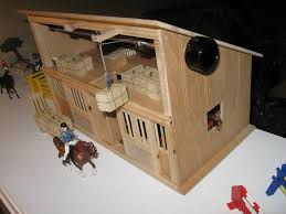 toy horse barn with working hay bale hoists by johnzo