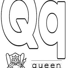 Small Picture Letter Q for Queen Worksheet Coloring Page Bulk Color