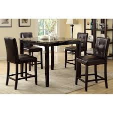 fabulous pub style table with 4 chairs marble finish counter height dining table 4 chairs f2339f1144