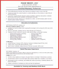 Pharmacy Technician Resume Pharmacy Technician Resume Memo Example 63