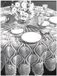 0473 pineapple round tablecloth vintage crochet pattern by princess of patterns