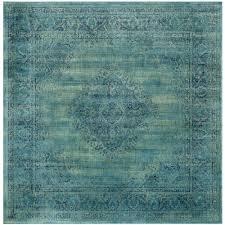 safavieh vintage turquoise multi 8 ft x 8 ft square area rug