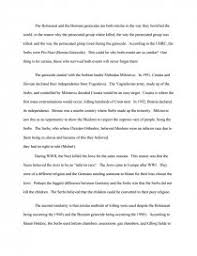 holocaust and bosnian genocide comparisons essay zoom zoom