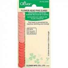 Light and Dark Pink Clover Flower Head Pins • Stitches Quilting & Flower Pins Clover 20 Pins Adamdwight.com