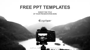 Digital Camera The River View Powerpoint Templates