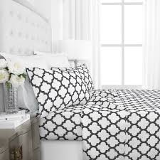 egyptian luxury 1800 hotel collection quatrefoil pattern bed sheet set deep