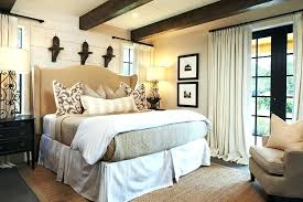 beadboard bedroom furniture. White Beadboard Headboard In Bedroom Faux Wood Beams Rustic With Beige Tufted Furniture