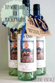 Diy Wine Bottle Labels Diy Wine Bottle Label Flash Card Gift Tag For Teachers Gifts