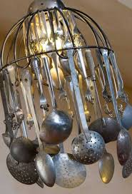 2 ladles spoons and sieves diy vintage chandelier 38 ingeniously clever ways to repurpose