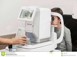 Eye Chart Machine Equipment In The Eye Clinic Stock Photo Image Of Chart