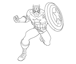 Small Picture Avengers Captain America Coloring Pages For Kids Super Heroes