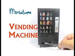 Diy Mini Vending Machine Enchanting 48 DIY Vending Machine Snack Machine Dollhouse Furniture Miniature