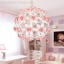 pink flower ball chandelier for girls room kids lamp com regarding bedroom plans 19
