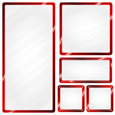 Red Photo Frames Red Metallic Frame Glass Effect Frame Metal Red Png And Vector