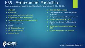 14 hb5 endorsement possibilities