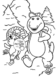 Small Picture walk with friend coloring pages for kids printable free Barney