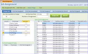 Excel Assignments Job Assignment Sample Database Iaccessworld Com