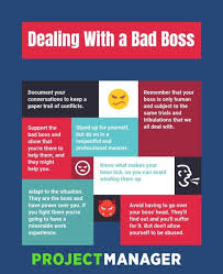 Dealing With A Bad Boss How To Deal With A Bad Boss Bad Boss Survival Tips Boss