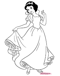 Snow White Coloring Page 49 With Lapes Pages 塗り絵 ディズニー