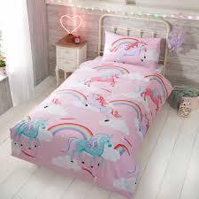 rapport my little unicorn toddler duvet cover set