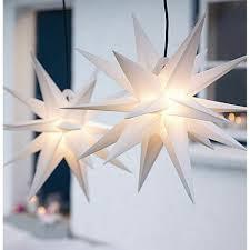 Weiß Weihnachtsstern 3d Stern Set Tlg 2 Outdoor Leuchtstern