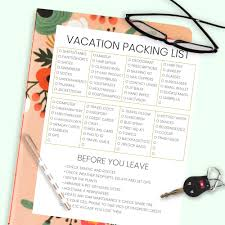 Vacation Checklist The Complete Vacation Travel Packing List Tips Made In A Day