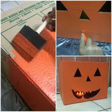 diy decorated storage boxes. Image Of: Cardboard Storage Boxes Pumpkin Diy Decorated