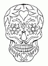 skull coloring pages to print
