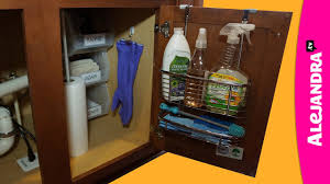 how to organize under the kitchen sink cabinet unit storage rack fold down e rack