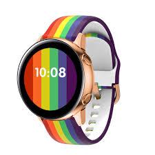 Review dây đeo silicon màu cầu vồng cho đồng hồ thông minh samsung huawei  20 / 22mm