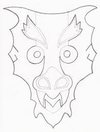 template of a dragon mask template dragon mask template by codenameeternity on