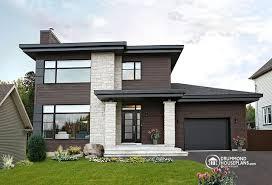 Contemporary   Modern House Plan no   V by Drummond House    Contemporary   Modern House Plan no   V by Drummond House Plans contemporary