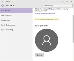 How To Make Another Account On Windows 10 Windows 10 Revert Switch From Microsoft Account To Local