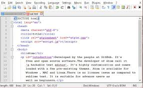 Best free HTML text editors for windows, MAC and Linux OS.