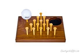 Wooden Peg Solitaire Game Wooden Golf JumpAPeg Solitaire Game Walnut Countryside Gifts 27