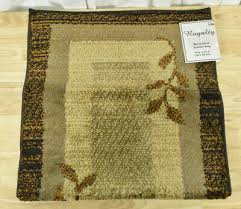 home dynamix royalty clover 19 6 x31 5 area rug brown leaves 23 39