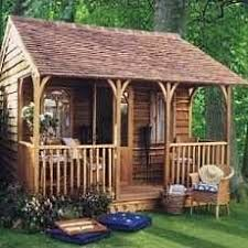 small cabin design with porch