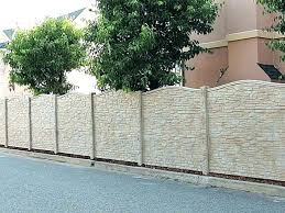 decorative block wall construction cinder fence garden concrete blocks c