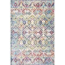 vintage sally trellis multi 4 ft x 5 ft 3 in area rug