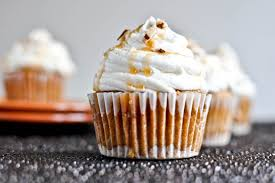 sweet potato cupcakes.  Potato Sweet Potato Pie Cupcakes With Marshmallow Frosting I Howsweeteatscom To A